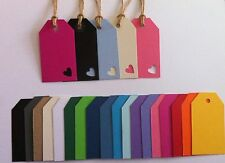 10 handmade luggage label gift tags love heart for wedding favour or name card