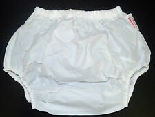 WHITE ADULT PLASTIC PANTS FOR NAPPIES / DIAPERS!!