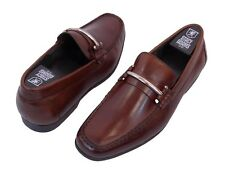 """Stacy Adams Men's Dress Shoes """"EASTON 24886"""" Brandy Slip Ons Loafers Leather"""