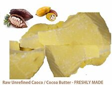 100% Pure Raw Cocoa Butter - Unrefined Cold Pressed FRESHLY MADE COCOA BUTTER