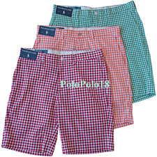 New Polo Ralph Lauren Gingham Check Shorts 29 30 31 32 33 34 35 36 38 40 42