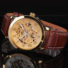Mens Luxury Stainless Steel  Automatic Mechanical Skeleton Sport Wrist Watch