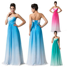 Chiffon Satin Sexy Long Bridesmaids Formal Party Prom Homecoming Ball Gown Dress