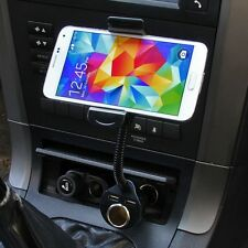 Universal Car Cigarette Lighter+Dual USB Charger+Mount Holder For Cell Phone GPS