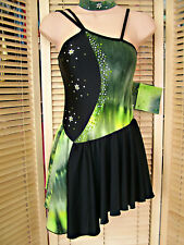 LEOTARD COMPETITION COSTUME 4 TO ADULT 10 FREESTYLE LATIN TAP JAZZ MODERN STONED