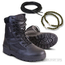 ARMY HALF LEATHER COMBAT PATROL BOOT BLACK CADET NEW WITH LACES TWISTS