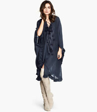 BNWT H&M SPRING COLLECTION 2014 DARK BLUE TUNIC WITH TASSLES XS / S