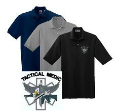 Police polo shirt black ebay for Embroidered police polo shirts