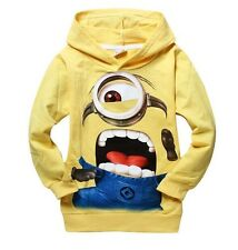 US Hot Boys Yellow despicable cartoon Long-sleeved Sweatshirts & Hoodies 2-8Ys