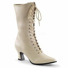 IVORY Victorian Old West style Granny Grannie boots size 6-12