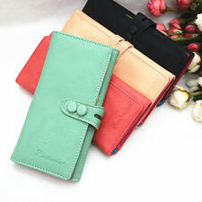 New Clutch Checkbook Change Bag Women Purse Handbag Ladies Wallet Candy Color