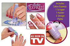 Nail Art Stamping Kit Finger Stencil Salon Express As Seen On TV