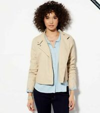 NWT AMERICAN EAGLE  M L 2XL CROPPED FAUX VEGAN LEATHER MOTO JACKET NEW