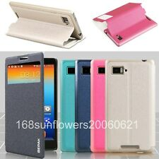 For Lenovo K910 Vibe Z BEPAK Slim Stand Window View Flip PU Leather Cover Case