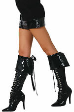 Genuine Roma Sexy Faux Leather Print Boot Cuffs Halloween Costume Accessories