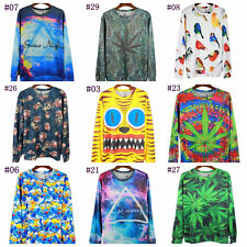 Newest!2014 Women's Men's 3D Space Galaxy Animal Hoodie Sweater Sweatshirt SW-11