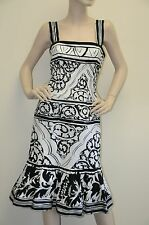 New Oscar de la Renta Black White S13 DRESS size 8