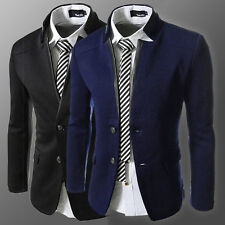 Top Designed Men Slim Fit Winter Autumn Outwear Blazer Pea Coat Jackets Overcoat