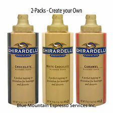Ghirardelli Sauce for Mochas & Desserts - White, Chocolate, or Caramel