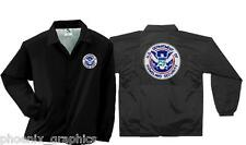 Homeland Security Embroidered Coaches Jacket Lined EMS DHS FEMA Rescue