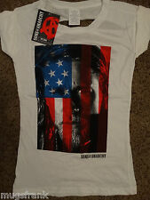 Sons of Anarchy SOA Tv Show Jax USA Flag Laser Cut  Back Junior Girls Shirt