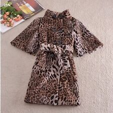 Runway latest cotton cloth top custom womens code abb leopard thickening coat