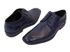 """Men's Dress Shoes """"Sio Thornton -002"""" Navy Blue Lace Up Oxfords"""