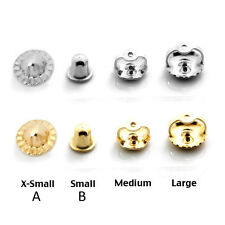 Backing Screw Back Earring Back's 14k Yellow or White Gold Small Medium Or Large