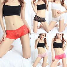 Fashion Lady Girl See Through Tangas Lace Boxer Panty Briefs Knickers Underwear