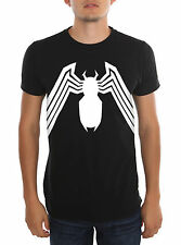 Venom Adult T-Shirt Black Spider-Man Men's Costume Halloween Marvel S, M, L, XL