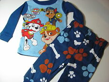 Paw Patrol Toddler Boys 12 months - 5T long Sleeve 2 piece pajamas Nick Jr Paw