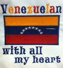 Venezuelan with all my heart. Venezuela Flag.  Baby Bodysuit  Embroidery