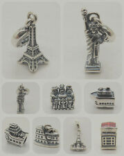 BIG BEN Eiffel Tower cruise ship Three Kings Landmark series 925 sterling charms