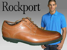 New ROCKPORT Men's Drsp Moc Front Lace Up Tan Featuring adidas adiprene