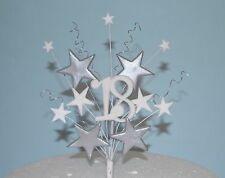 cake topper gold/silver stars wires 18th 21st 40th 50th 80 birthday anniversary