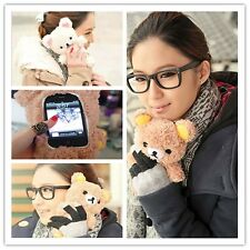 3D Cute Teddy Bear Cool Plush Toy Doll Case Cover For Various HTC Cell Phones