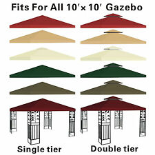 NEW Replacement Canopy Top 10x10' Patio Pavilion Gazebo Sunshade Polyester Cover