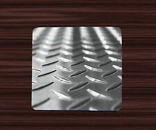 Coasters Drink Mat Fabric Top w/ Rubber Bottom- Diamond plate looking image