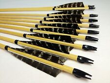 12PK eagle Feather Wood Arrow Hunting Archery For Longbow Recurve Compound bow