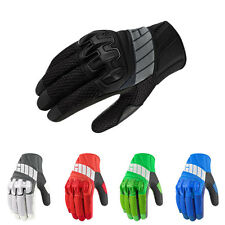 Icon Overlord Mesh Chassis Leather Palm Gloves with TPR Knuckles 5 Colors