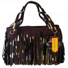 NWT Nicole Lee Fringe Bag Kaira Brown Black or Purple