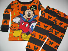 New Disney Mickey Mouse Halloween Toddler Boys 12m 18m 24m 2t 3t 4t 5T pajamas