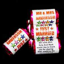 Personalised Mini Love Hearts Wedding Party Favours/Sweets/Gifts - Stars Design