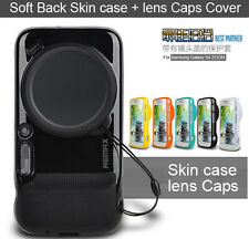 New Remax Soft Back Skin case + lens Caps Cover For Samsung Galaxy S4 ZOOM C101