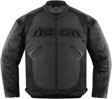 Icon Sanctuary Black Leather Motorcycle Riding Jacket Stealth Black