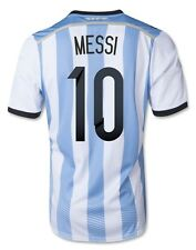 """NEW!!! ARGENTINA HOME SOCCER JERSEY 2014 - """"MESSI #10"""" - ADULTS"""