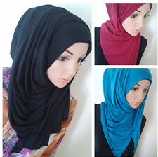 Maxi Stretchy Hijab Neck Cover Scarf Sarong Shawl Wrap Blogger Viscose Muslim