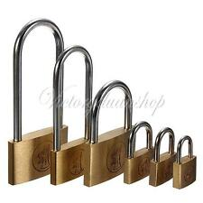 New Brass Padlock Garage Shed Locker/Chest Lock/Suitcase/Toolbox Long Shackle G