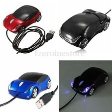 Wired USB Car Shape Optical Mouse Mice Scroll Wheel For PC Computer Laptop Win 7