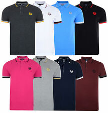 New Mens Sergio Tacchini Polo T-Shirt Top - Retro Vintage Classic Golf Branded
